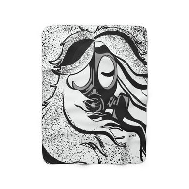 Toxic Girl Grunge Sherpa Fleece Blanket