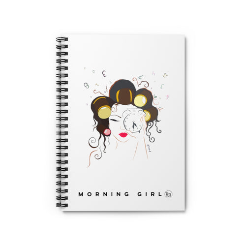 Morning Girl Spiral Notebook - Ruled Line