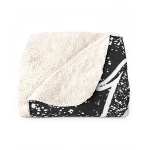 Toxic Girl Grunge Sherpa Fleece Blanket : Black