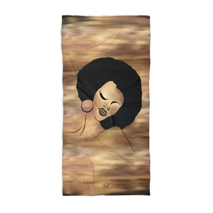 Ebony Queen Beach Towel