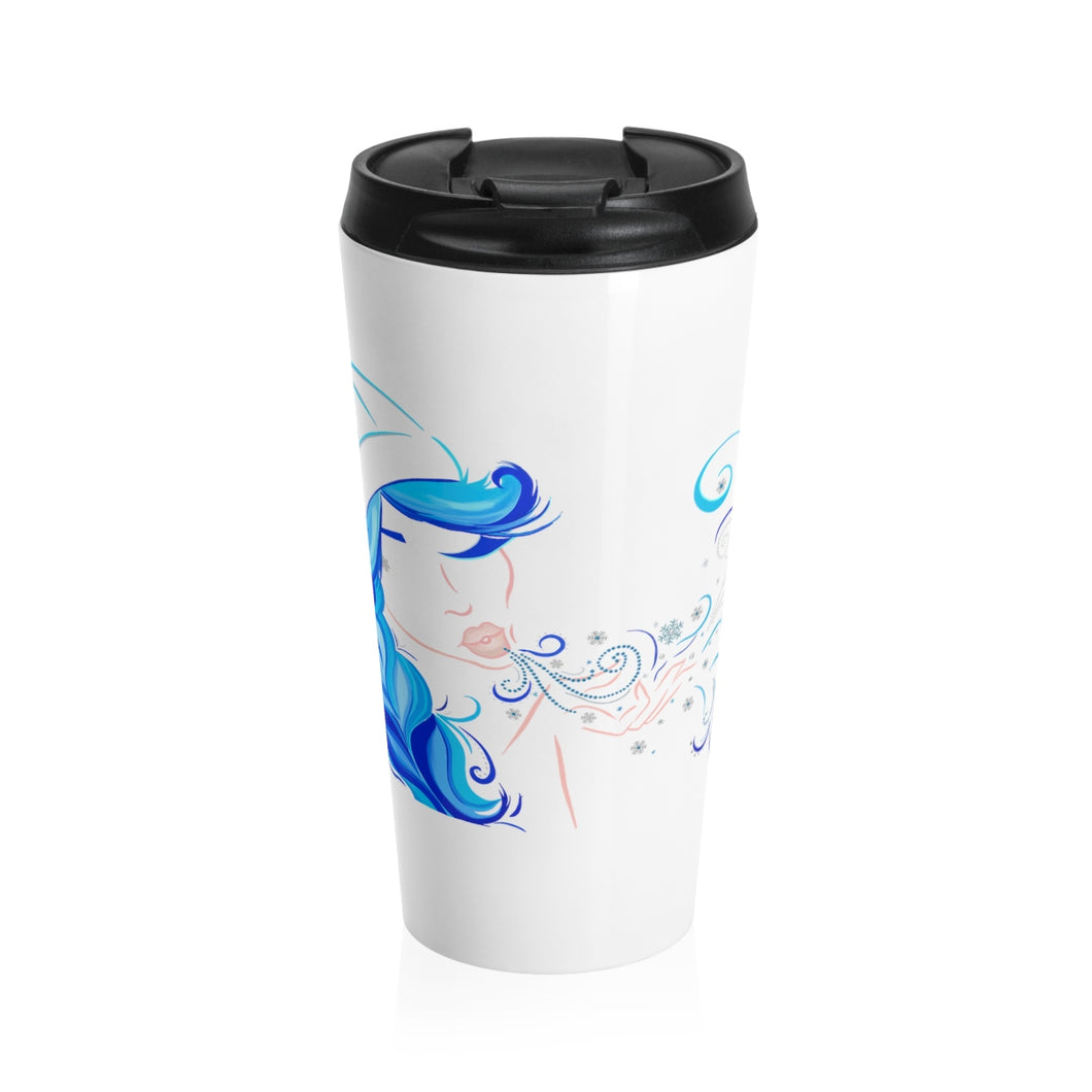 Winter Girl Stainless Steel Travel Mug