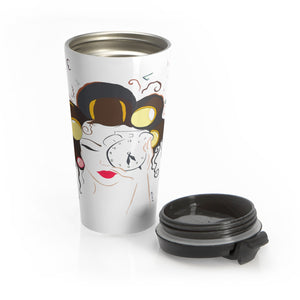 Morning Girl Stainless Steel Travel Mug