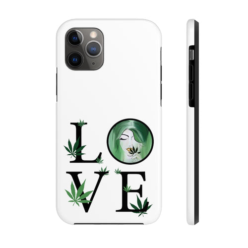 Love + MJ iPhone Case - White