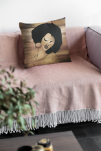 Ebony Queen Faux Suede Square Pillow