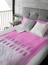 Beautiful Survivor Sherpa Fleece Blanket