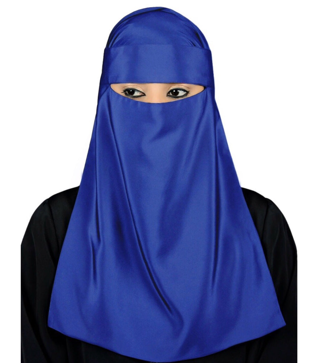 Royal Blue Niqab Set