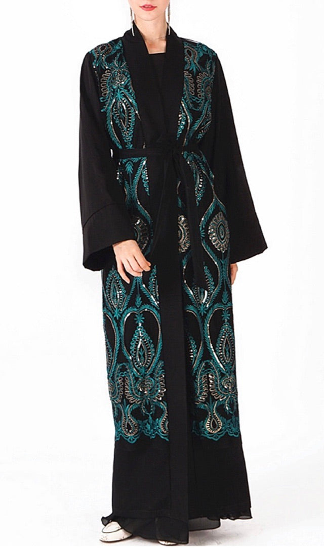Patterned Sequin Duster