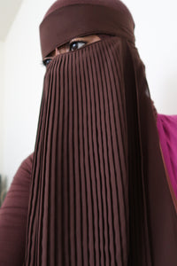 Pleated Brown Niqab