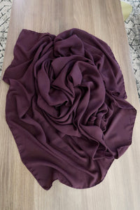 Plum Rectangle Hijab/Shayla *Extra Long