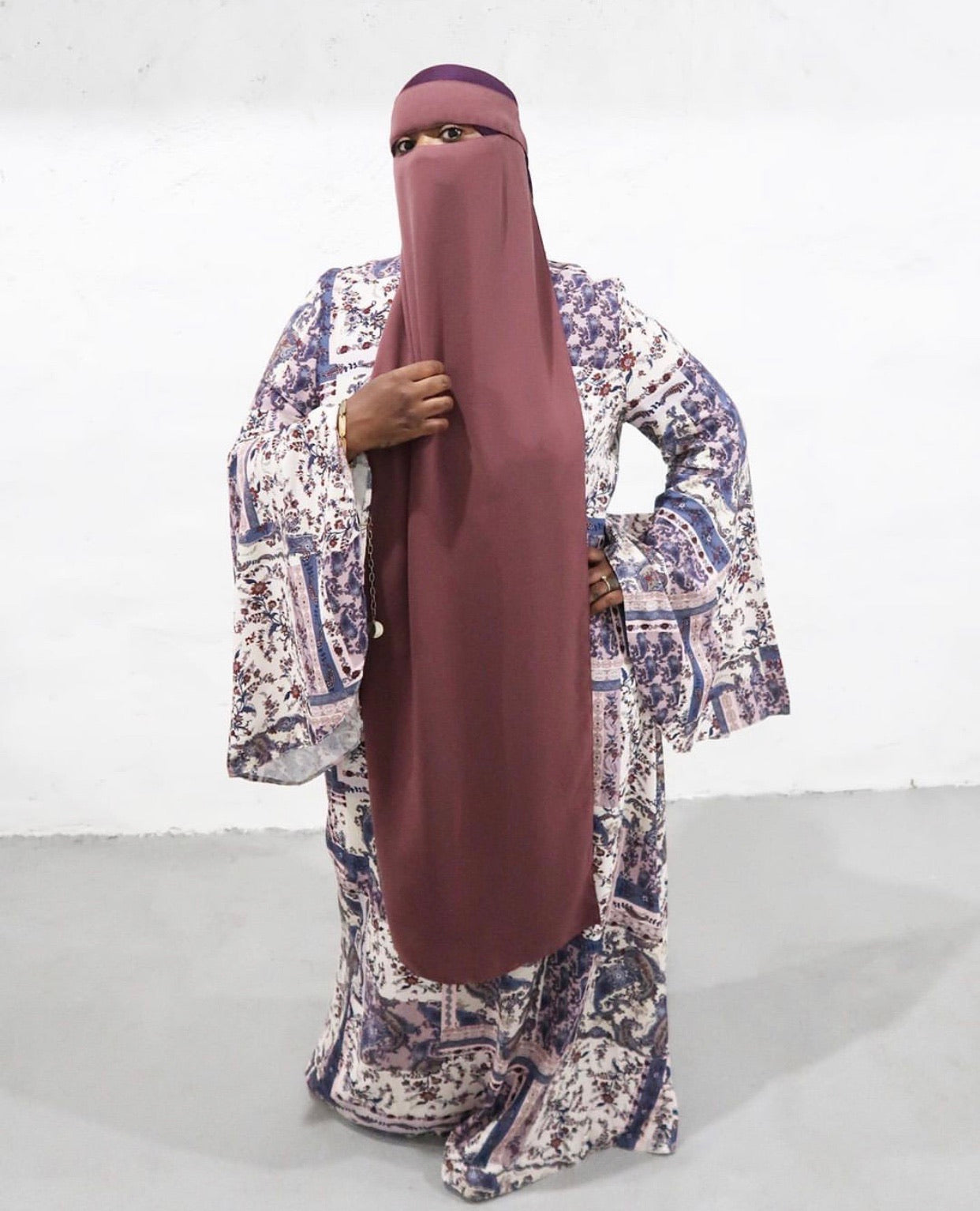 Bell Sleeves & Paisley Prints Dress