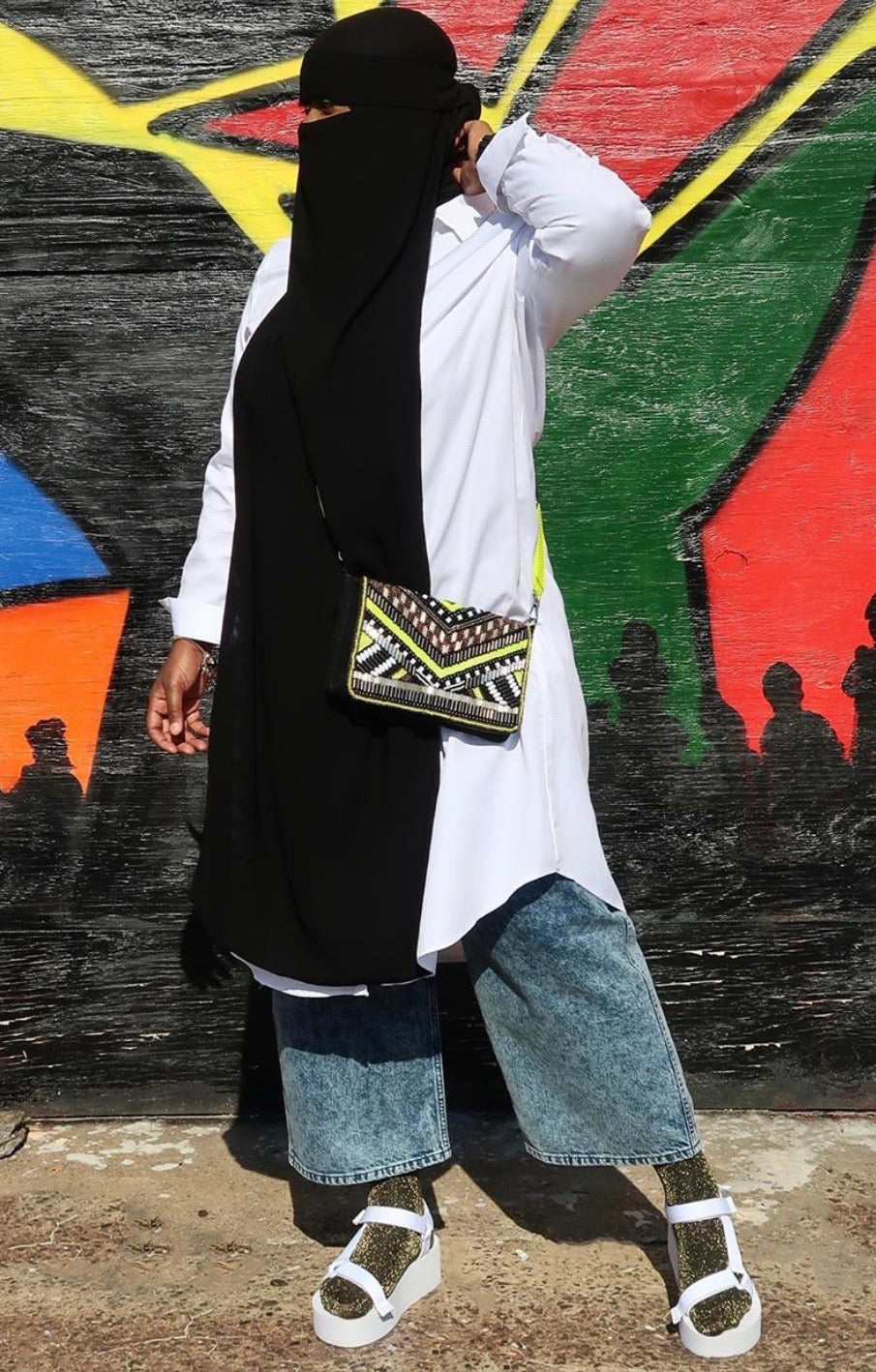 Oversized White Button Down Tunic