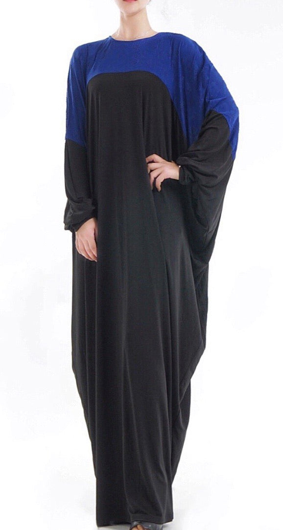 Color-Block Butterfly Batwing Abaya