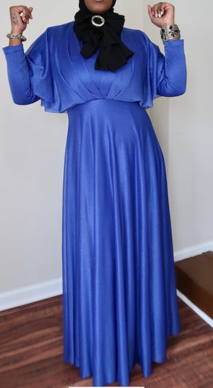 Electric Blue Vibes Sparkling Dress