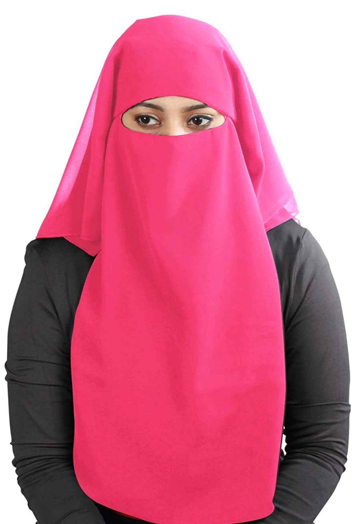 Pink 3 Layer Niqab