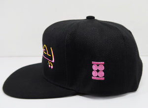 """Believe"" Graphic SnapBack Hat (PINK, BLACK & YELLOW GOLD)"
