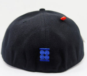 """Believe"" Graphic Fitted Hat (WHITE, BOLD BLUE & WHITE)"