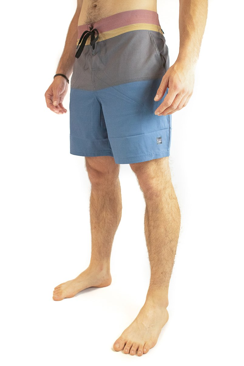 Colorblock Boardshort Reciclado Azul