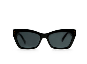 Cleo Black Cat Eye Sunglasses