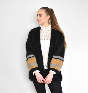 Mohair-Strickjacke