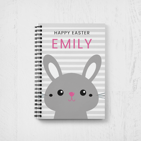 Bunny Rabbit Happy Easter Notebook Girls