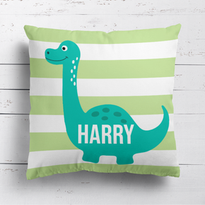 Dinosaur Green Stripe Cushion