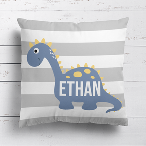 Dinosaur Grey Stripe Cushion