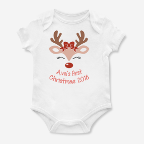 My First Christmas Reindeer Bodysuit