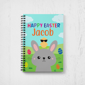 Bunny Rabbit Happy Easter Notebook Cool Chick