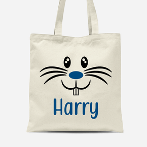 Easter Bunny Rabbit Face Boys Canvas Bag