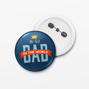 The Best Dad In The World Father's Day Badge