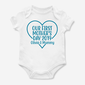 Our First Mother's Day Love Heart Bodysuit