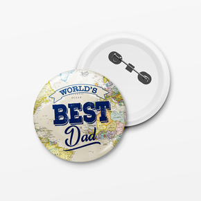 World's Best Dad Father's Day Badge