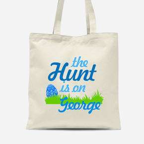 Easter Bunny Rabbit Boys Canvas Bag Egg Hunt