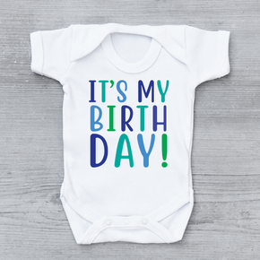 It's My Birthday Boys Bodysuit Baby Vest
