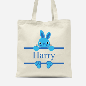 Easter Bunny Rabbit Boys Canvas Bag
