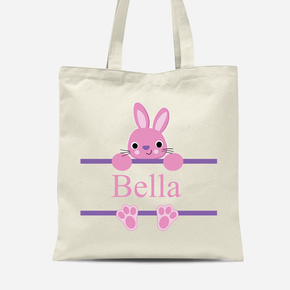 Easter Bunny Rabbit Girls Canvas Bag