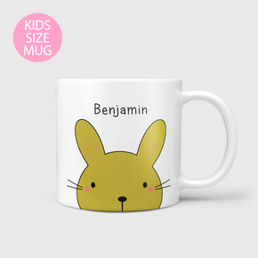 Personalised Easter Bunny Face Kids Baby Mug