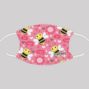 Adult Bumble Bee Be Happy Face Mask