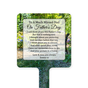 Father's Day Memorial Ground Stake Garden Bench
