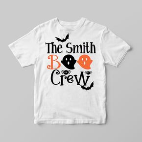 Family Matching Halloween Pumpkin Adult T-shirt The Boo Crew