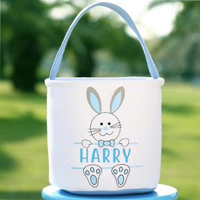Personalised Easter Bunny Rabbit Basket Bag