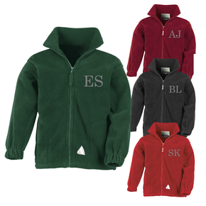 Kids School Embroidered Initial Fleece