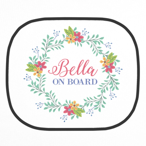 Personalised Flower Wreath Car Shade