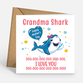 Mother's Day Grandma Shark Card