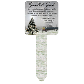 Christmas Grandad Memorial Ground Stake