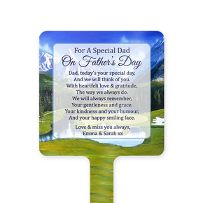 Father's Day Memorial Ground Stake Golf