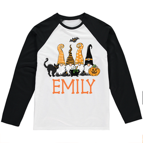 Personalised Halloween Gnomes Truck Long Sleeve T-shirt