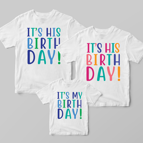 It's My Birthday Boys Family Matching T-shirts Set