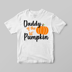 Family Matching Halloween Pumpkin Adult T-shirt Lil Pumpkin