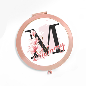 Personalised Compact Mirror Mummy Initial